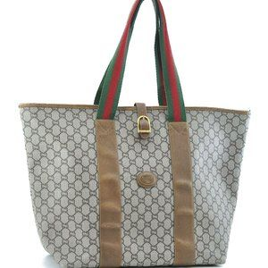 Auth Gucci Sherry Line Gg Tote Travel #4311G15